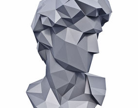 3D model Head of Michelangelo David Low Poly