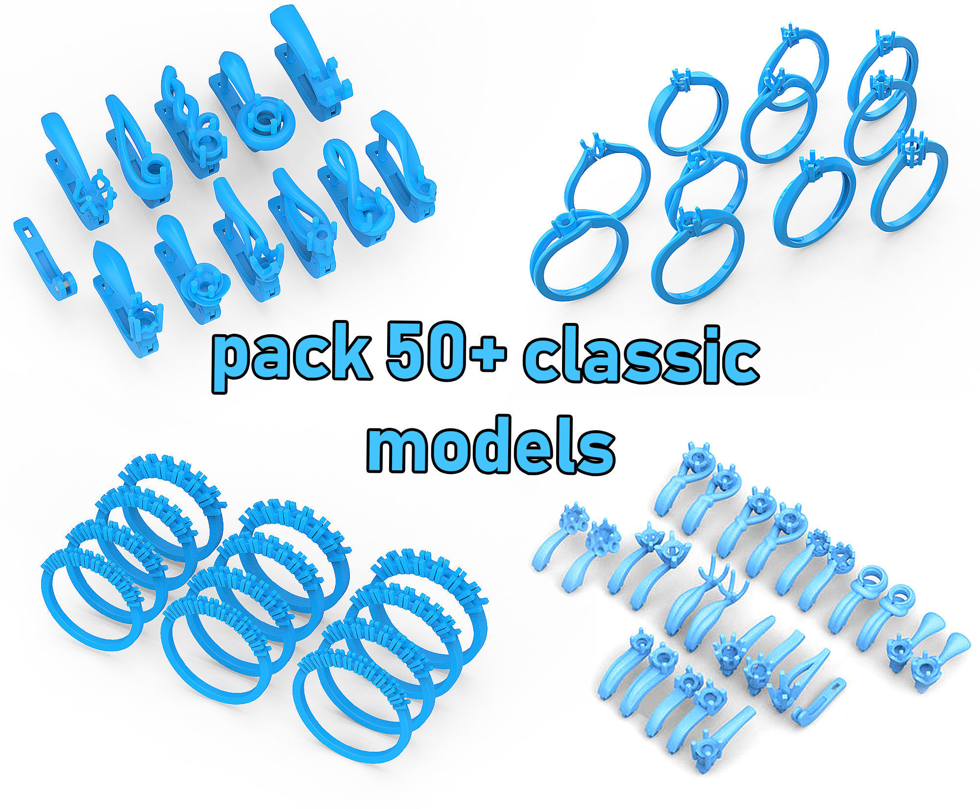 Pack of jewellery classic models