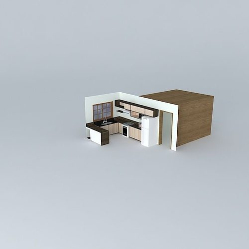 3d model anderson and anna kitchen cgtrader for Kitchen set 3ds max