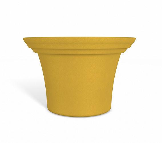 orange flower pot 3d model obj mtl 3ds fbx dae 1