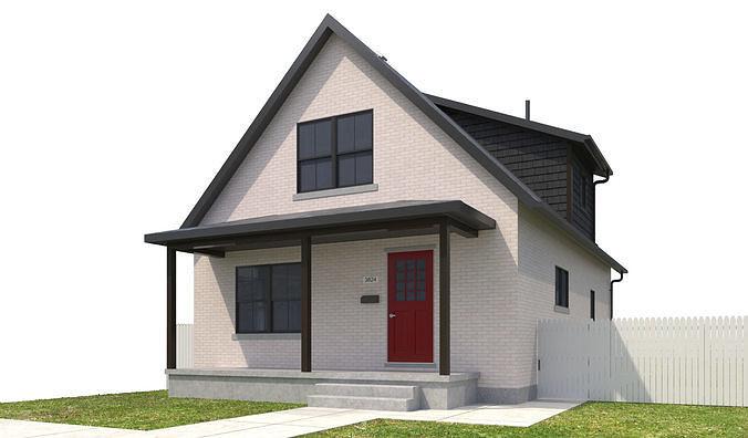 house-086 3d model max obj mtl 3ds fbx dwg 1