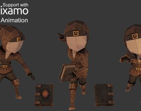 3D asset animated Wizard Character