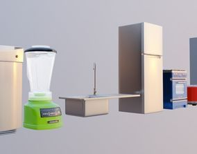 10 kitchen appliance and kitchenware 3d model