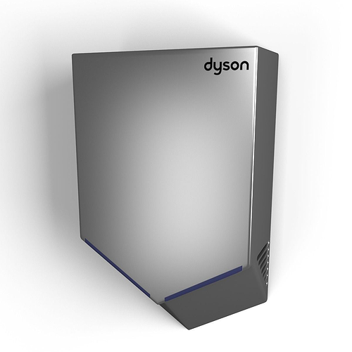 dyson airblade v 3d model max obj mtl 3ds fbx 1