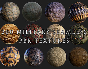 200 Military War Seamless PBR Textures 3D