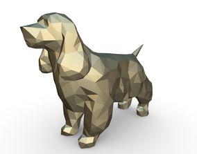 Cocker Spaniel figure 3D print model