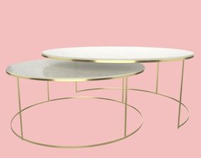 3D Modern Round Coffee Table