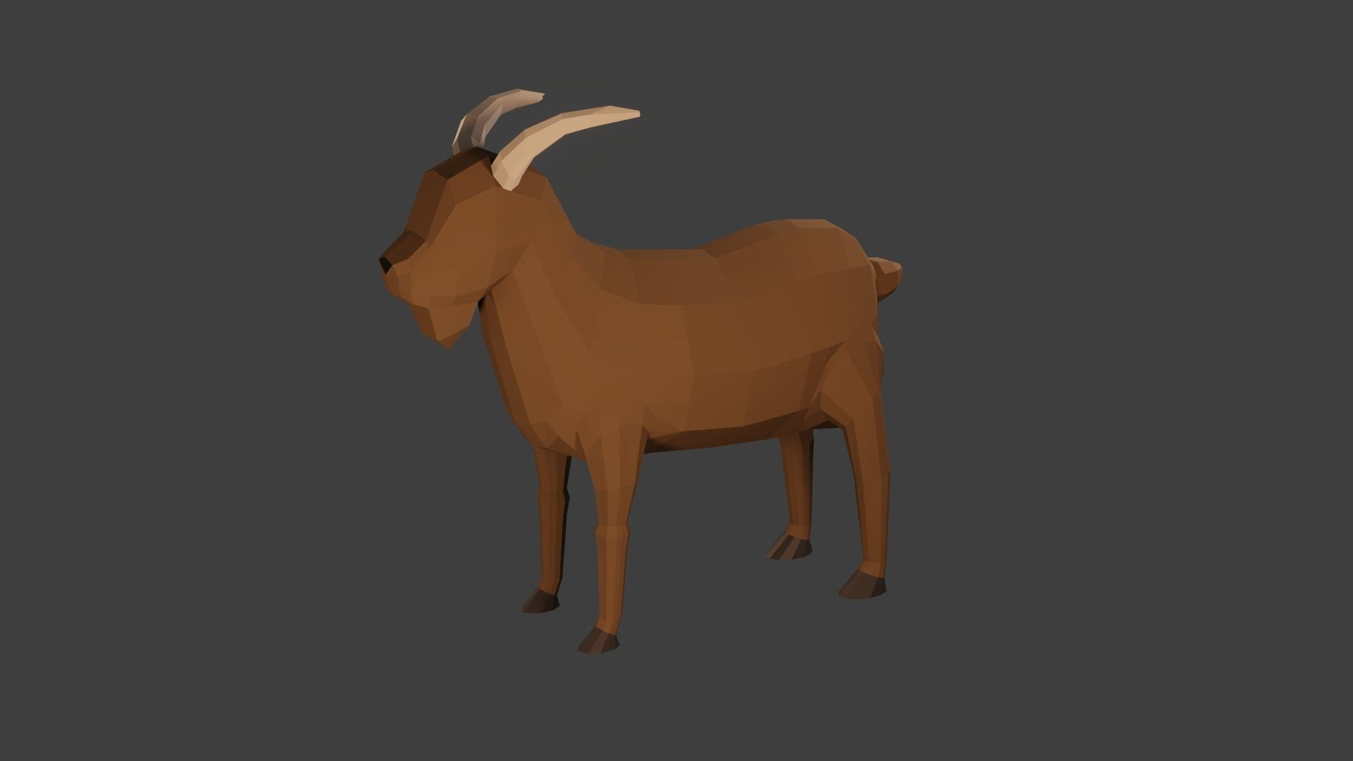 Goat 3D Model Low Poly Game Ready Blender | 3D model