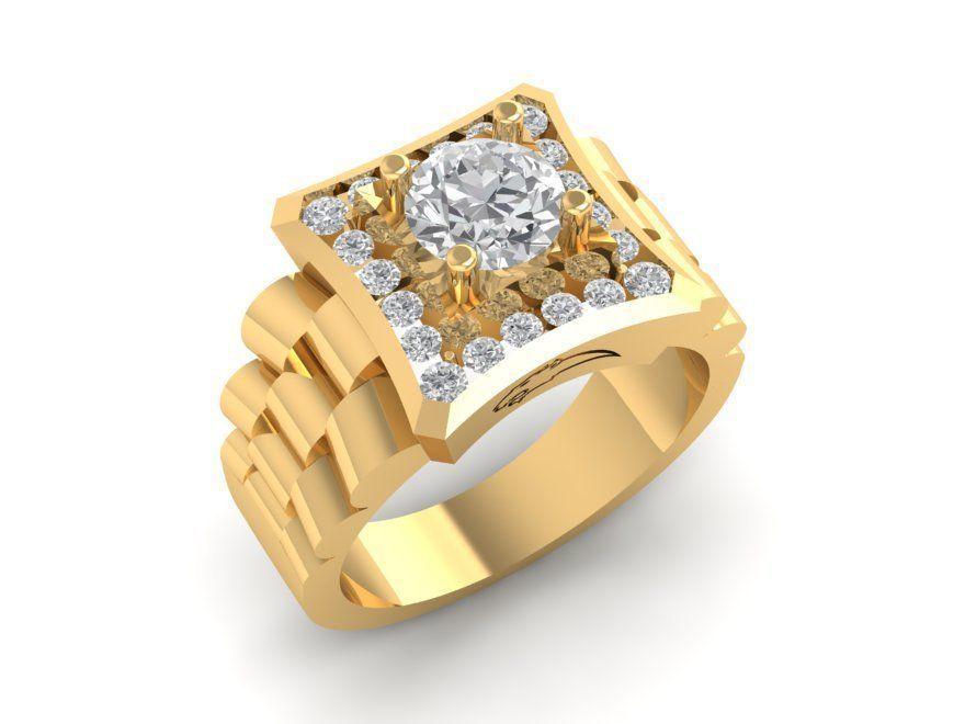 1133 Diamond Korea Men Ring | 3D Print Model