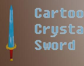 Sword Cartoon Low Poly 3D model realtime