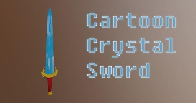 sword cartoon low poly 3d model obj mtl 3ds fbx blend dae unitypackage prefab 1