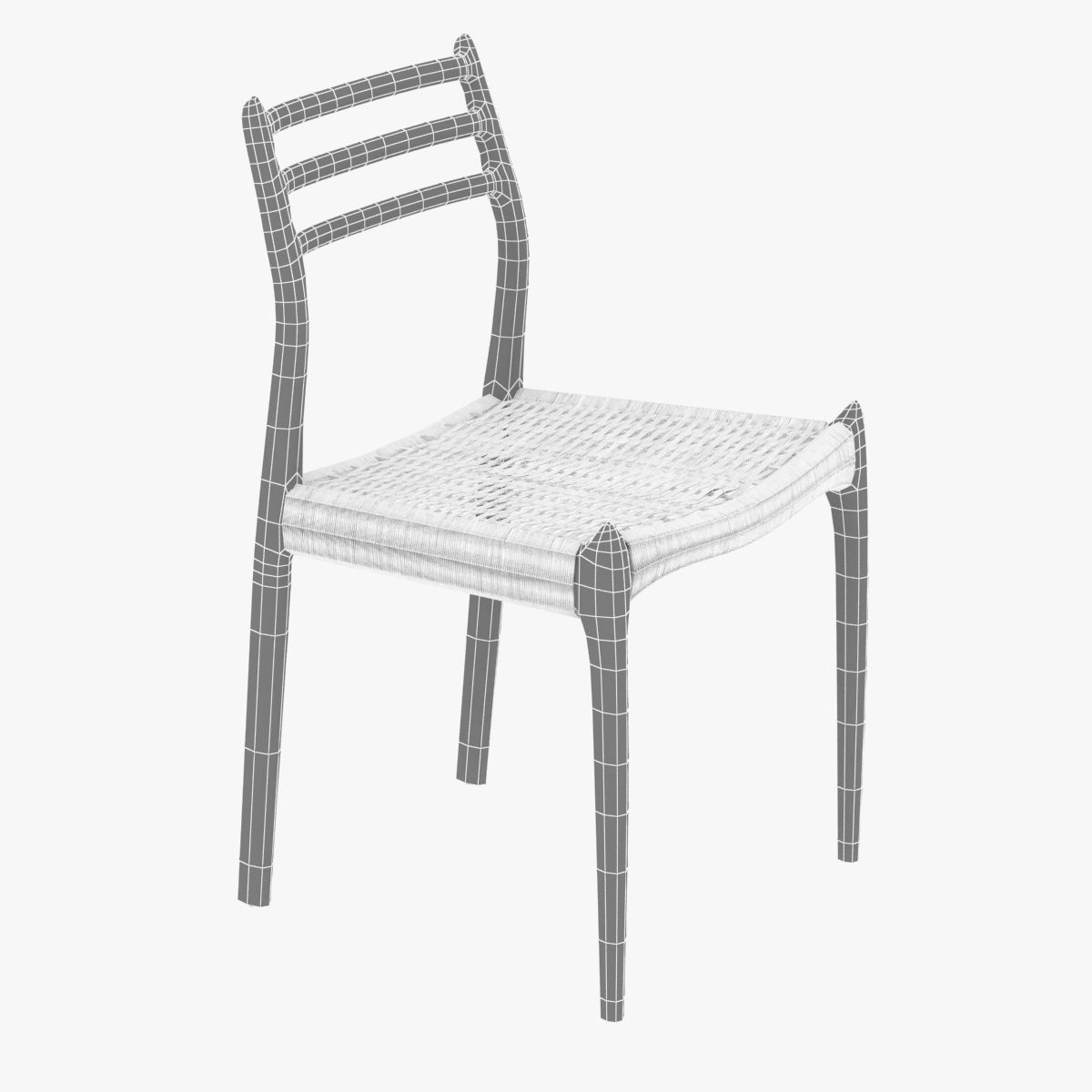 ... Dwr Moller Model 78 Side Chair 3d Model Max Obj Mtl 3ds Fbx Skp  Unitypackage Prefab ...