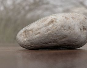 Eroded Limestone Pebble 3D