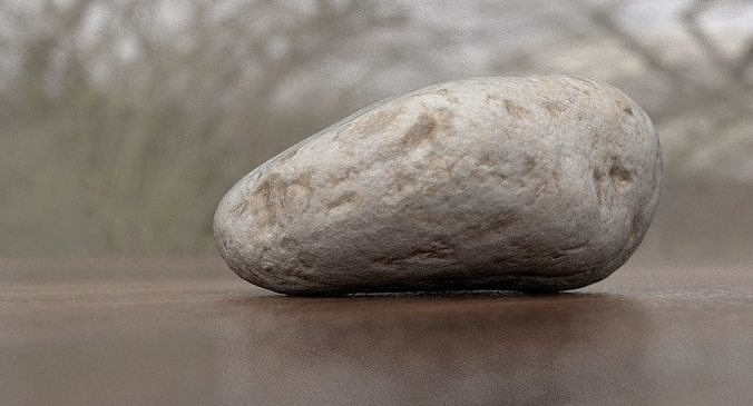 eroded limestone pebble 3d model max obj mtl lwo lw lws blend 1