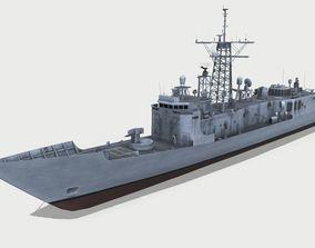 Oliver Hazard Perry-class frigate 3D asset