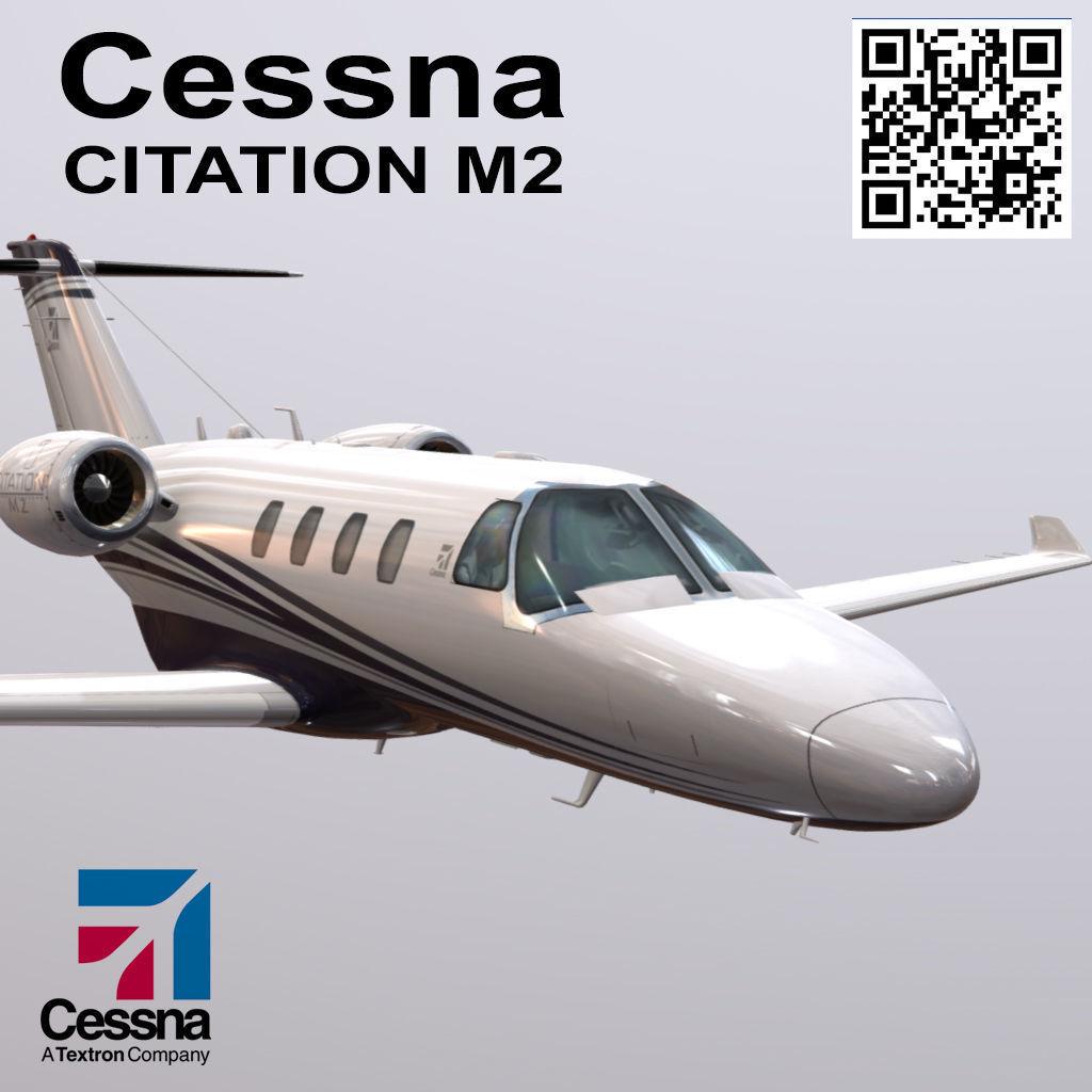 Cessna Citation M2 3d Model