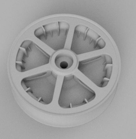 1-5th scale Messerschmitt BF-109 wheel - Early Version