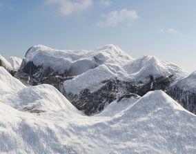 3D model Snowy Terrain 01