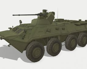 3D asset game-ready BTR-82A