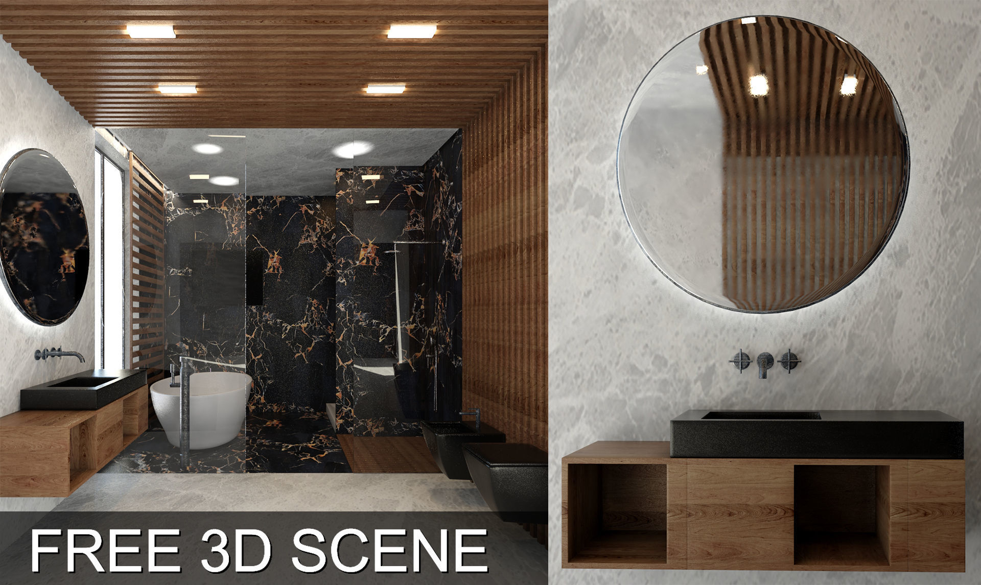 Bathroom Scene 3d Models Free Video Timelapse In The 1