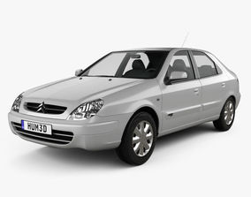 3D Citroen Xsara 5-door hatchback 2000