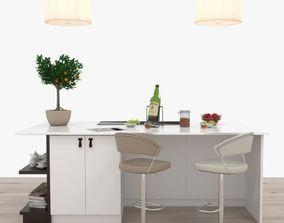 Kitchen island grapes 3D model