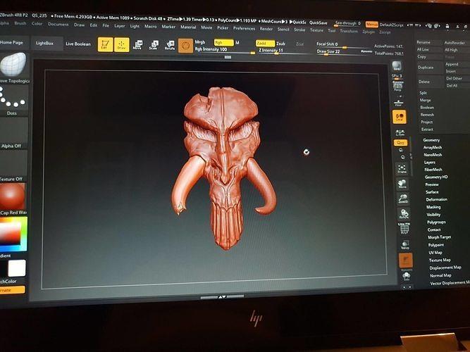 mythosaur skull 3d model obj mtl stl 1