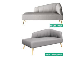 3D model Couch Sofa - Wezen - High- and Low-poly