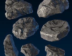 3D asset Big Chunky Rocks Pack - Game-Ready