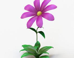 3D model garden Cartoon flower