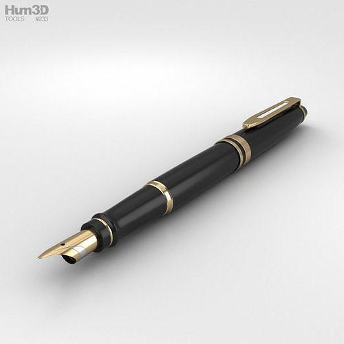 fountain pen 3d model max obj mtl 3ds fbx c4d lwo lw lws 1