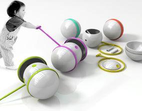 Children portable assembly trolley 3D MODEL
