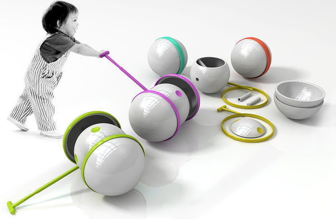 children portable assembly trolley 3d model 3d model max obj mtl 3ds fbx 3dm skp 1