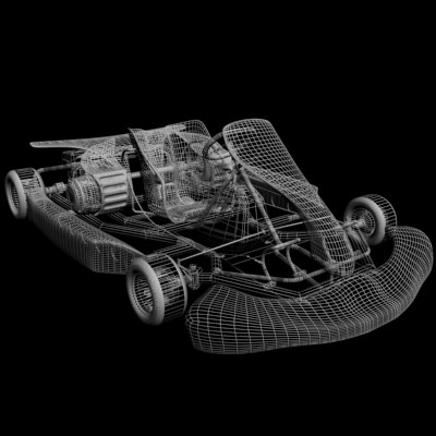 go kart 3d model max obj 3ds fbx 10