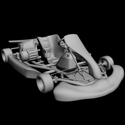 go kart 3d model max obj 3ds fbx 9