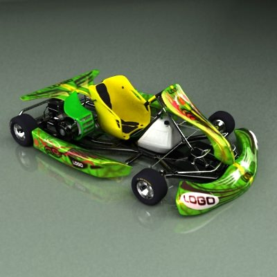 go kart 3d model max obj 3ds fbx 12