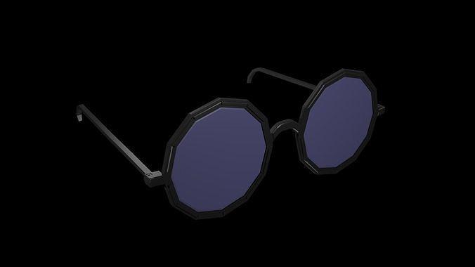 low poly spectacles 2 3d model low-poly obj mtl 3ds fbx stl blend x3d 1