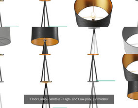Floor Lamp - Veritate - High- and Low-poly 3D model