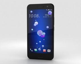 HTC U11 Brilliant Black dual-sim 3D model