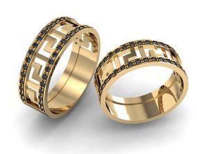 GREEK ring 3D printable model