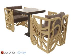 3D model Amal Cubic Armchair