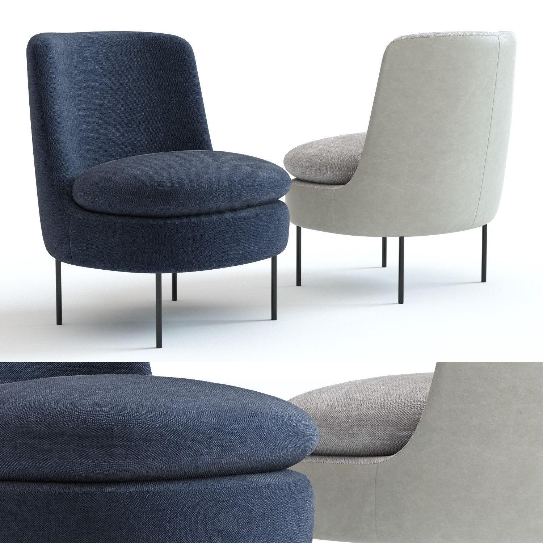 Prime West Elm Modern Curved Chair 3D Model Inzonedesignstudio Interior Chair Design Inzonedesignstudiocom