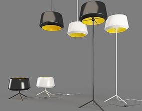 CAN Light Zerolighting Floor Table Pendant 3D model