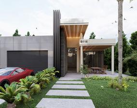 3D Lumion 9 Villa Facade Design