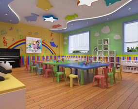 3D model Kindergarten Classroom 01