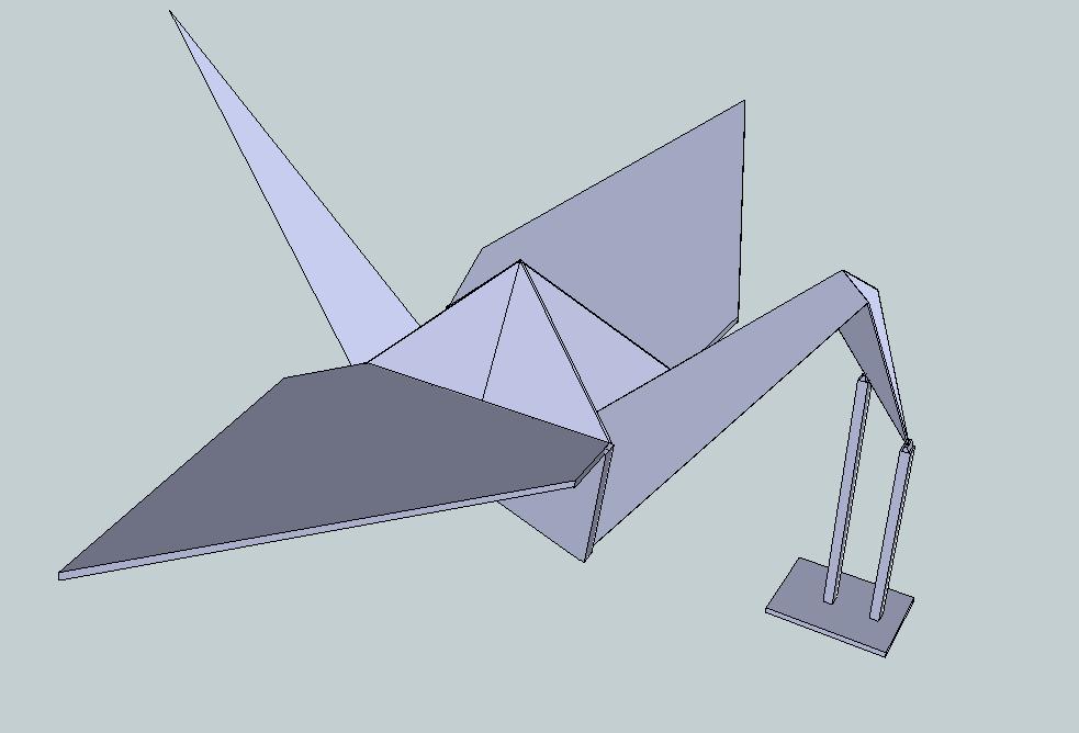 Origami Crane 3d Model Stl 1