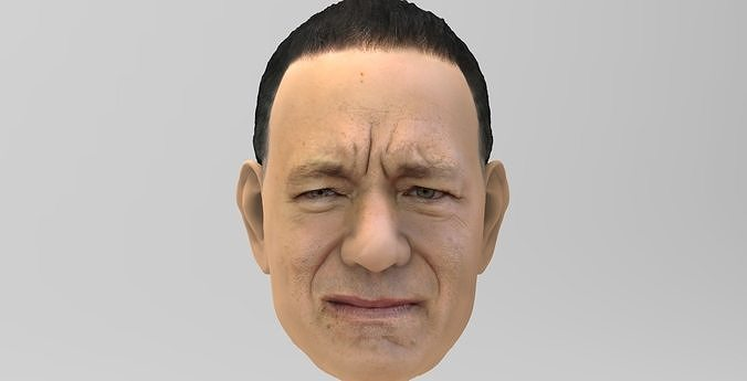 tom hanks 3d model obj mtl fbx stl wrl wrz 1