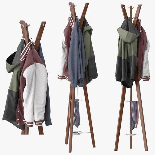 hanny coat stand 3d model max obj mtl fbx 1