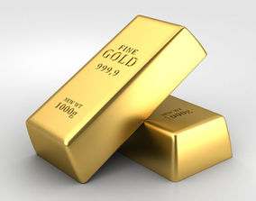 3D model Gold Bar models