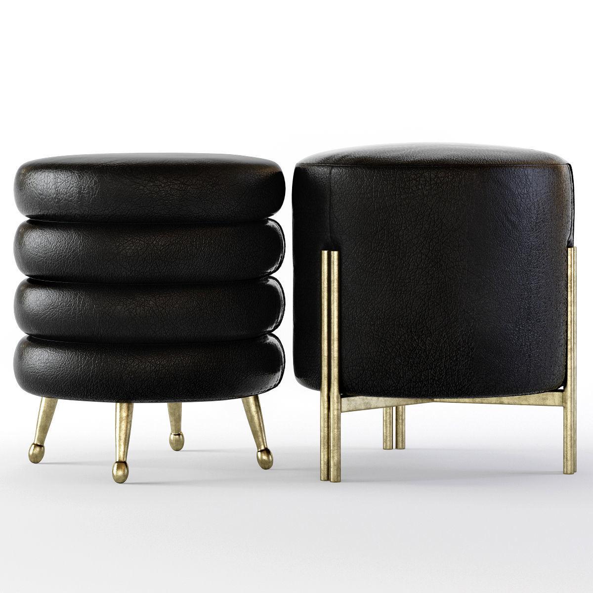 brand new 9bdc3 03940 Kelly Wearstler Melange and Laurel Stools | 3D model